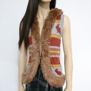Cute Fur Rabbit Knitted Vest